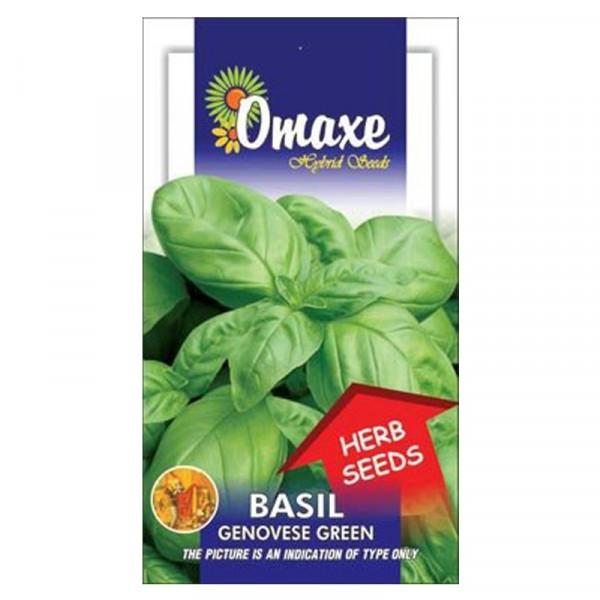 Omaxe Basil Genovese Green seeds (80-100 Seeds)