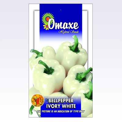 Omaxe BellPepper Ivory White (30 seeds)