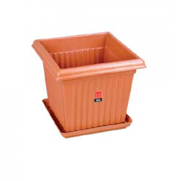 Square Planter No. - 08 (Pack of Three)