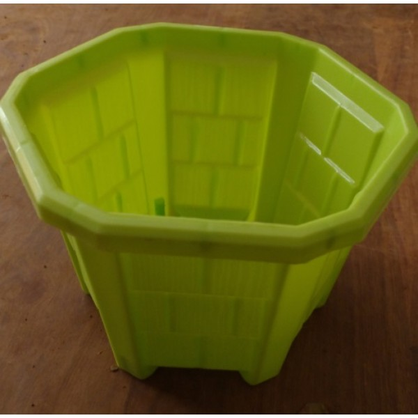 Hexa Planter  No. - 1 Lime (Pack of 12)
