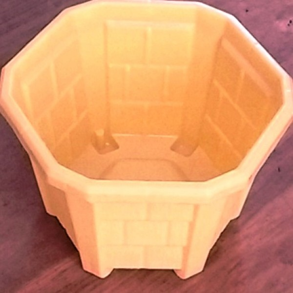 Hexa Planter  No. - 1 Yellow (Pack of 12)