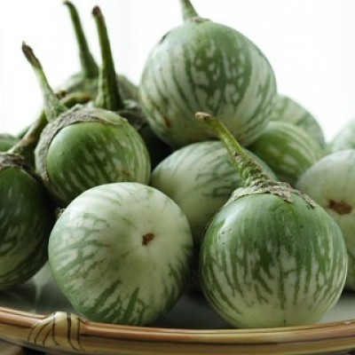 Sunrise Brinjal Green Round Hybrid Seeds 4gm