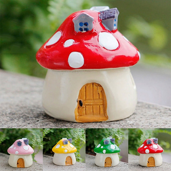 Fairy Garden Mashroom Ceramic Mix(Set of 4)