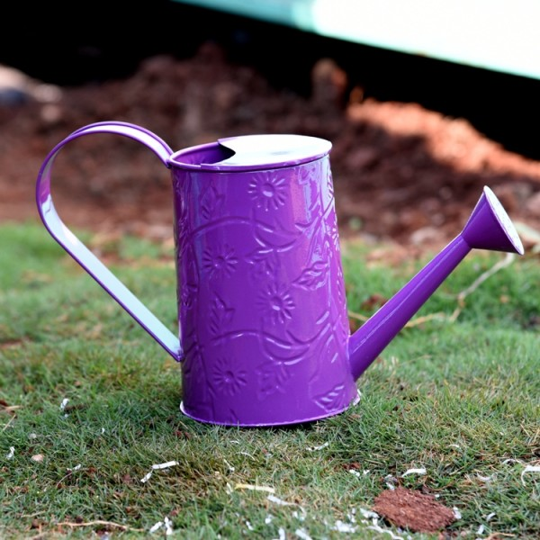 Embossed Water Can In Purple Color