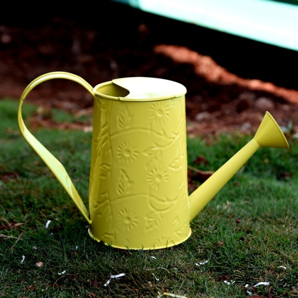 Embossed Water Can In Yellow Colour