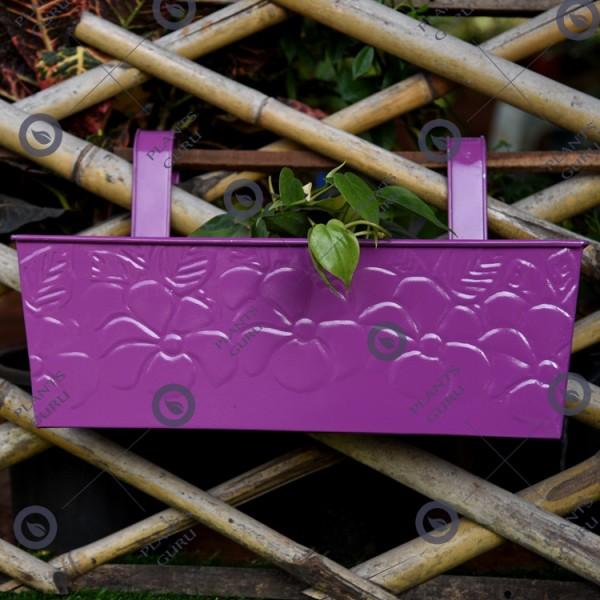 Large Purple Rectangular Plant Container