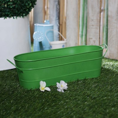 Green Garden Rectangle Planter
