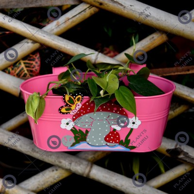 Railing Mushroom Planter Pink