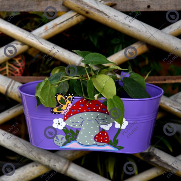 Railing Mushroom Planter Purple