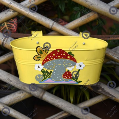 Railing Mushroom Planter Yellow